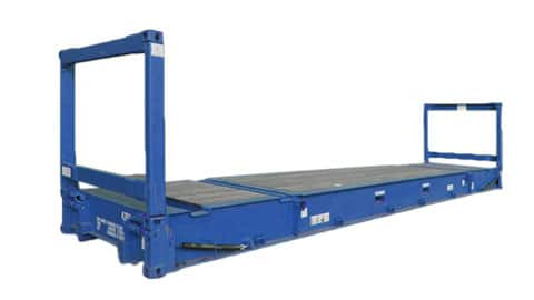 40 ft Flat Rack Container SmartFreight Freight Forwarder